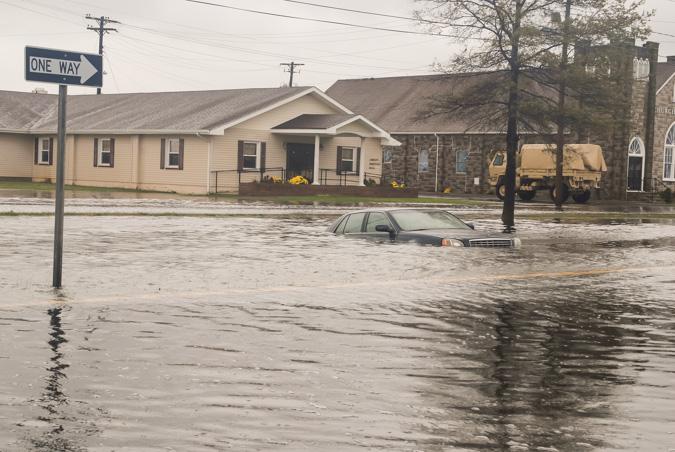 Hurricane Sandy flooding Crisfield MD